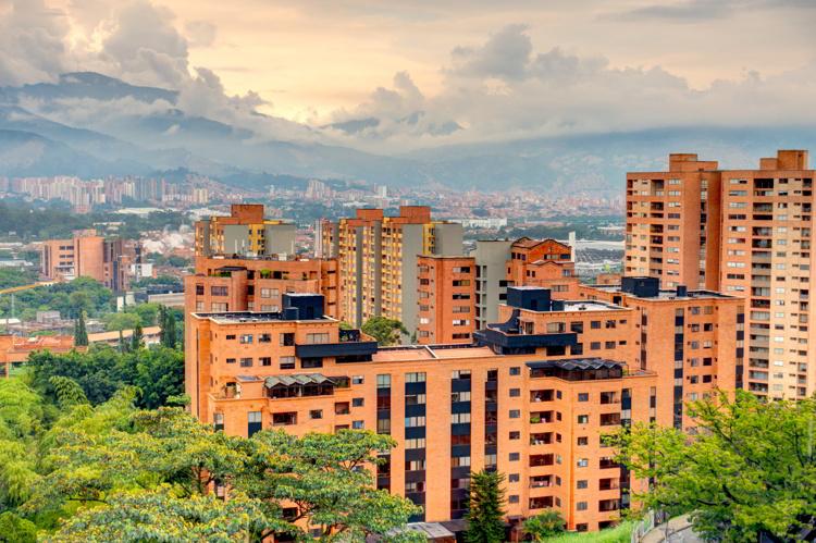 Medellin, El Poblado district cityscape