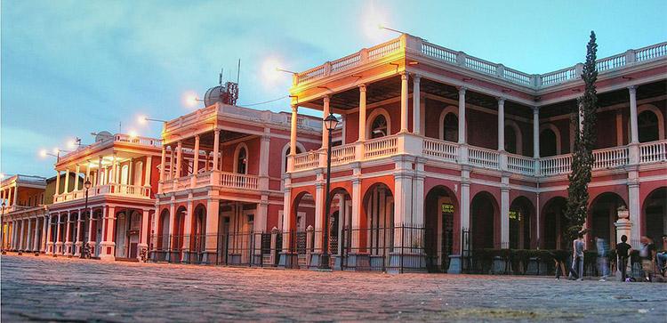 Colonial Granada swuare in Nicaragua.