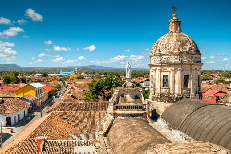 View over the historical center of Granada, Nicaragua
