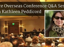 Kathleen Peddicord speaking at the Retire Overseas Conference.
