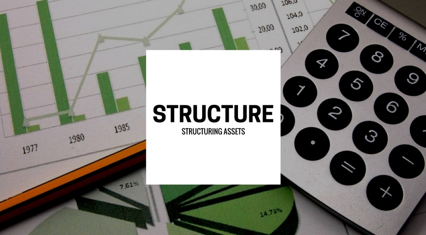 An asset portfolio with graphs of each set of asset structures.
