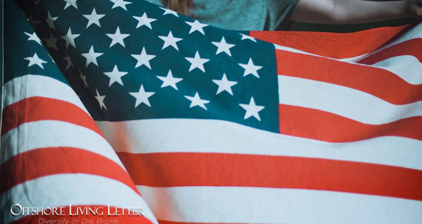 us flag holding girl repatriating funds overseas