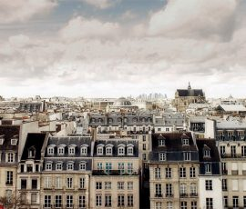 A row of apartments in Paris