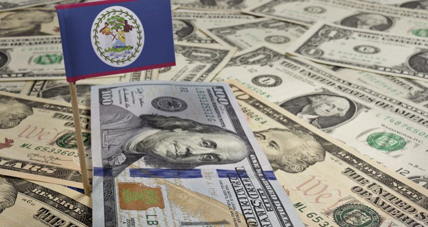 belize flag money