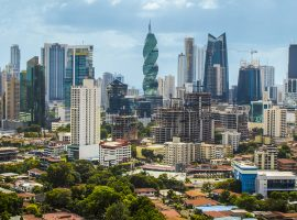 A panoramic view of Panama City's burgeoning skyline