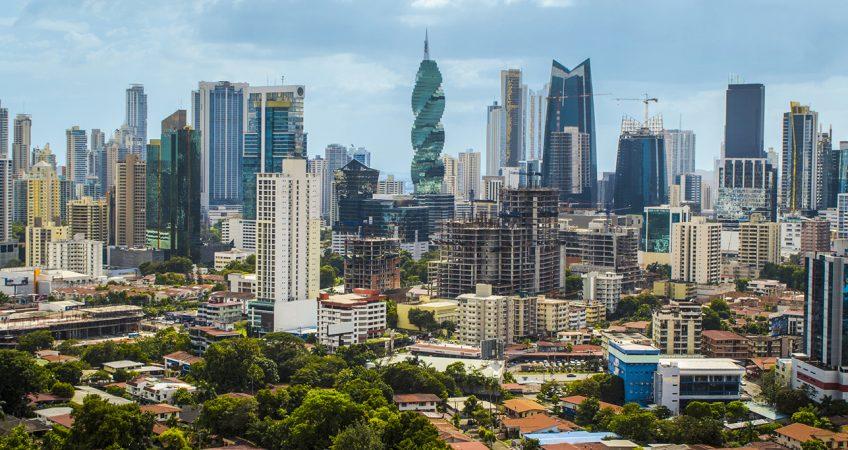 A panoramic view of Panama City's burgeoning skyline