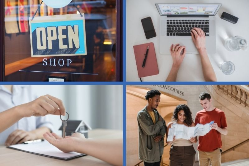 Examples of jobs expats can do overseas including opening a niche store, an online business, real estate, and tour guide