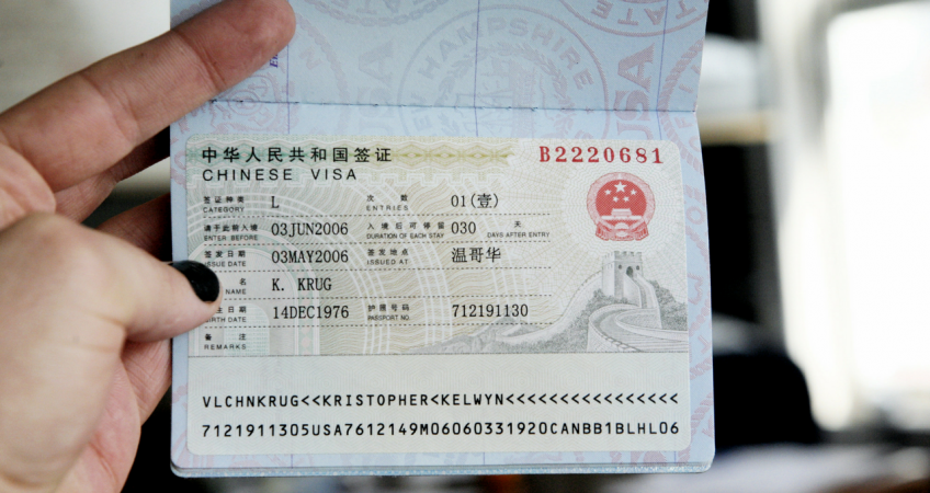 Visa to get into China