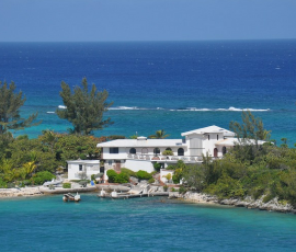 A house by the sea in the Caribbean