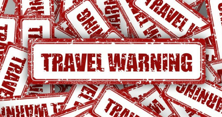 Travel Warning stamps