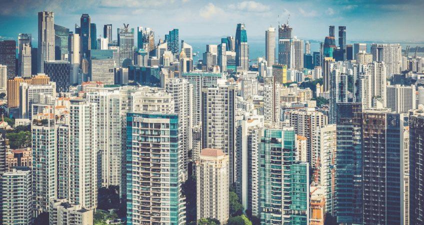 Singapore View Across The City, singapore skyline