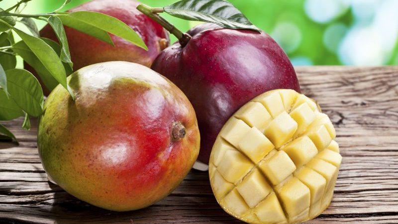 mangos on a board