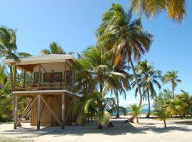 Belize house on stilts