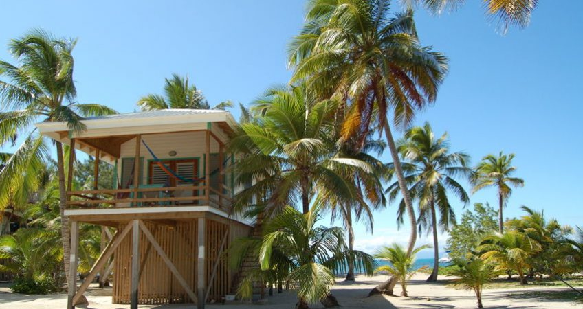 Belize house on stilts