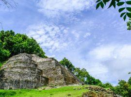 Maya Ruins, Jaguar Temple, in Belize