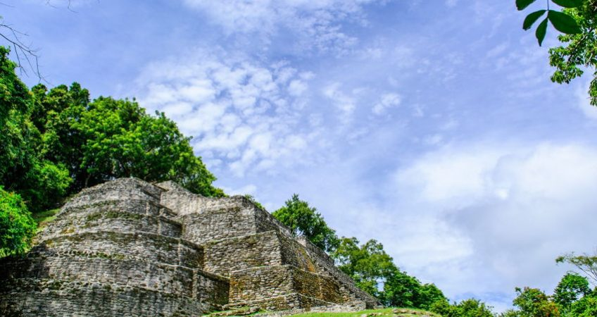 Maya Ruins, Jaguar Temple, in Belize