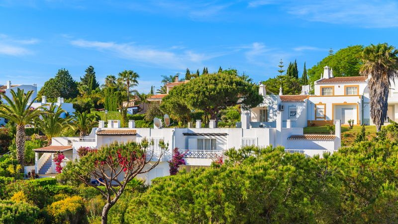 Carvoeiro, Portugal. Real Estate set among green trees