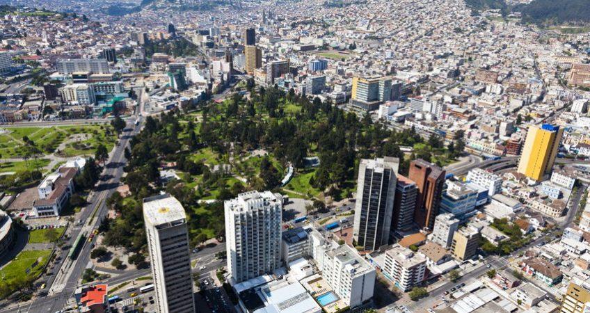 Quito in Ecuador aerial view