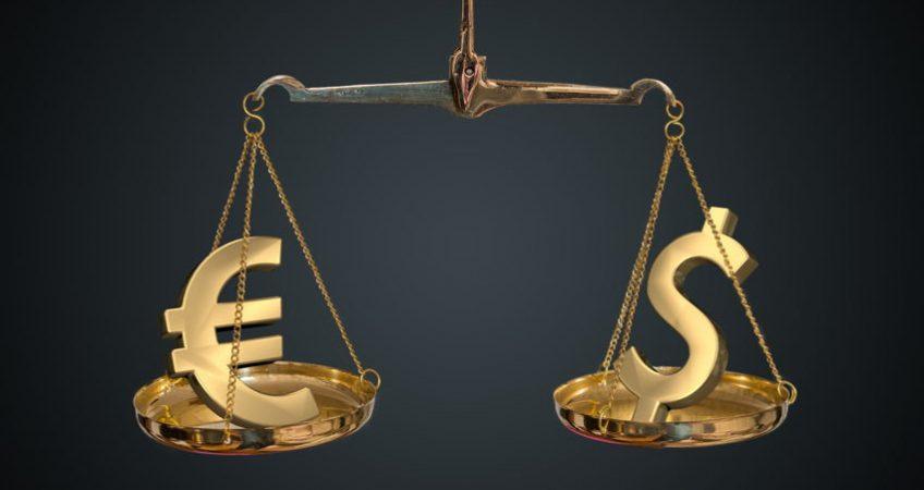 euro and dollar comparison