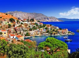 A seaside town in the Mediterranean, Greece