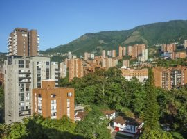 Apartment buildings in Medellin Colombia