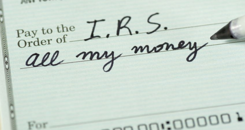 check to pay irs all money