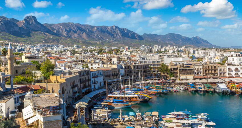 kyrenia harbour in northen cyprus