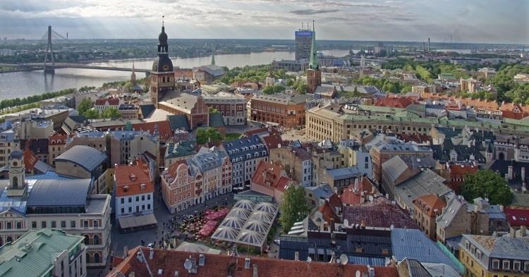 Historic center in Latvia
