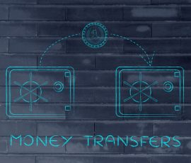 diagram showing money being transferred