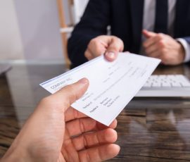 man opening offshore bank account