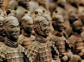 Terracptta army in Xian, China