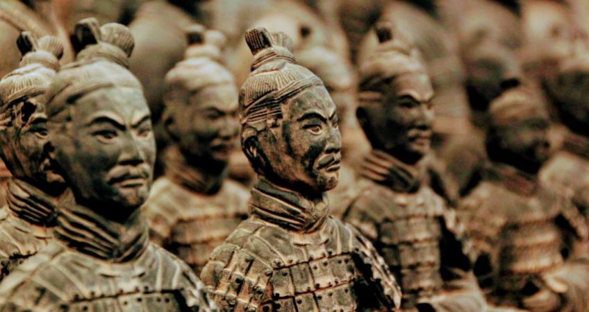 Terracptta army in Xian, China