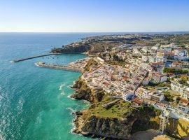 Aerial view of the algarve portugal