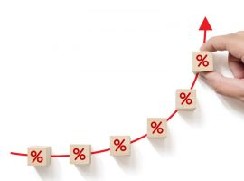 stock percentages rising