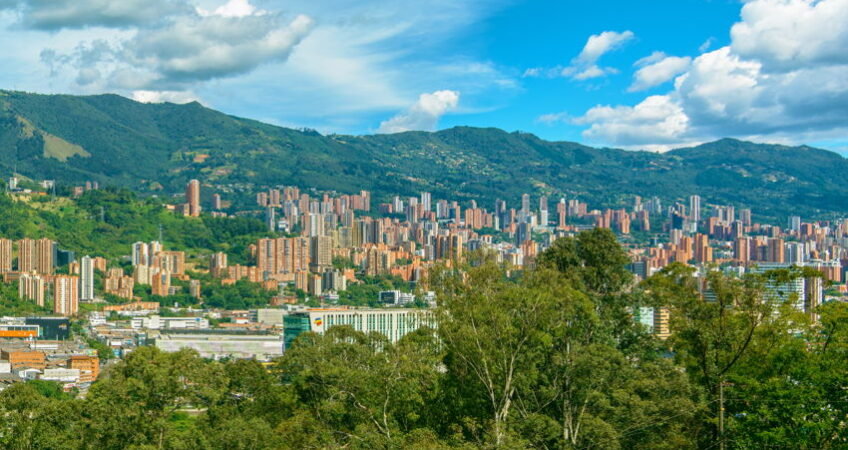 view across medellin colombia