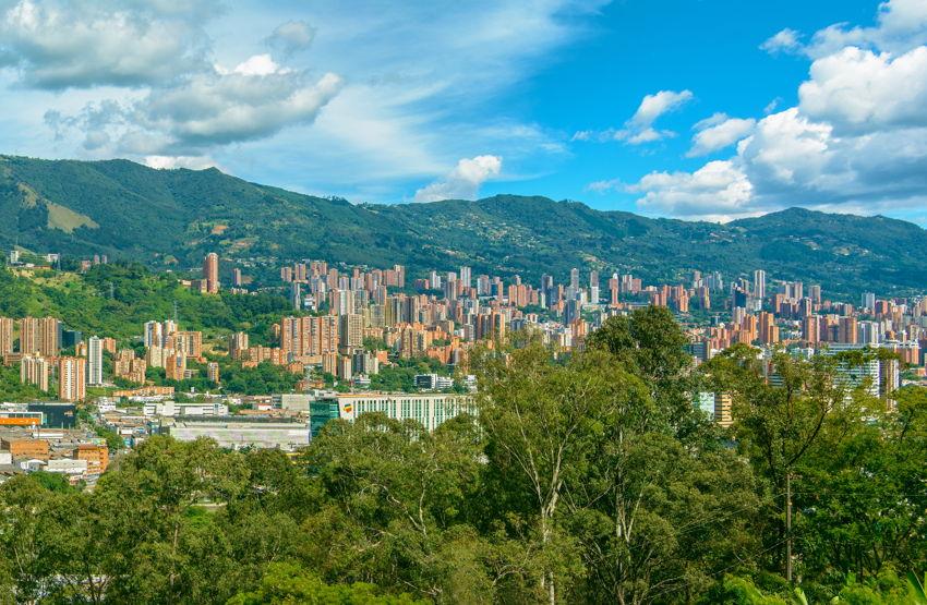 view across medellin colombia