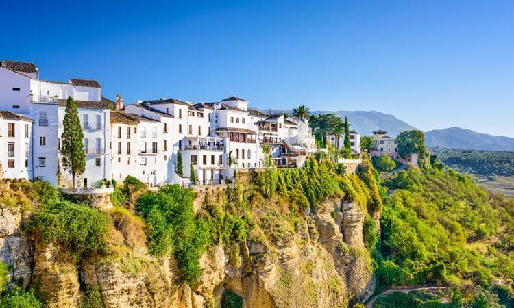 Ronda, Spain old town cityscape on the Tajo Gorge.