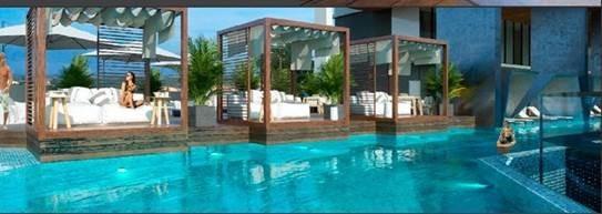 costa del este terrace and pool