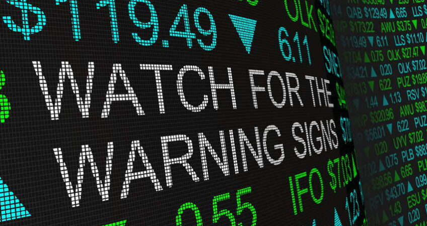 stock market warning signs