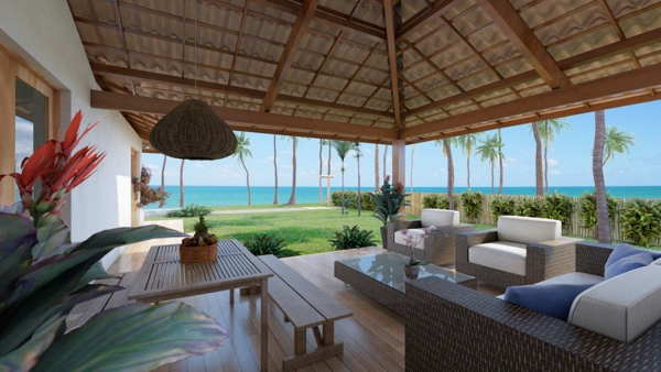 brazil terrace outside close to sea