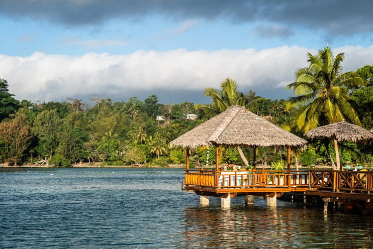 Port Vila lagoon in Vanuatu