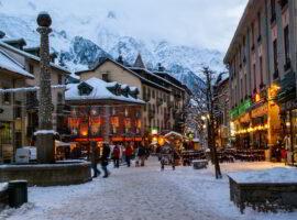 Christmas in Chamonix, France.