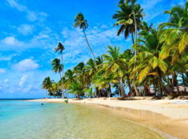 Beautiful San Blas Islands in Panama.