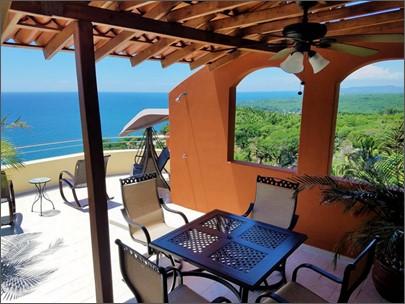 A terrace view at Vista Encantada