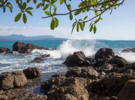 Los Islotes beach at the Azuero Peninsula in Panama
