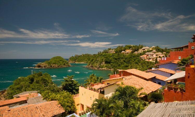 Upscale colony of Costa Careyes on the Mexican Pacific Coast near Mazatlan.