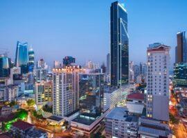 Skyline of Panama City, Panama.