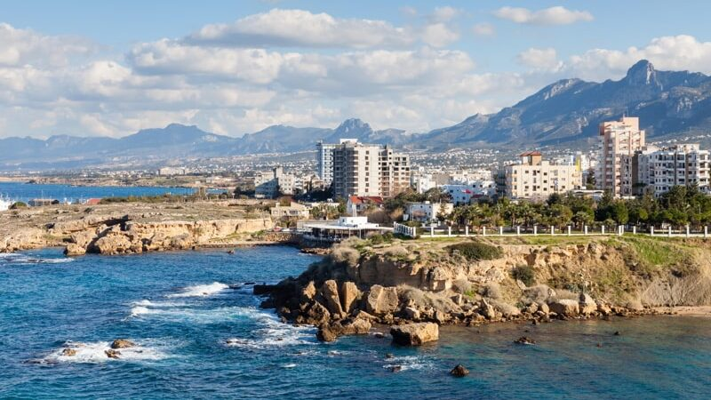 The Kyrenia coastline in the Turkish Republic of Northern Cyprus.
