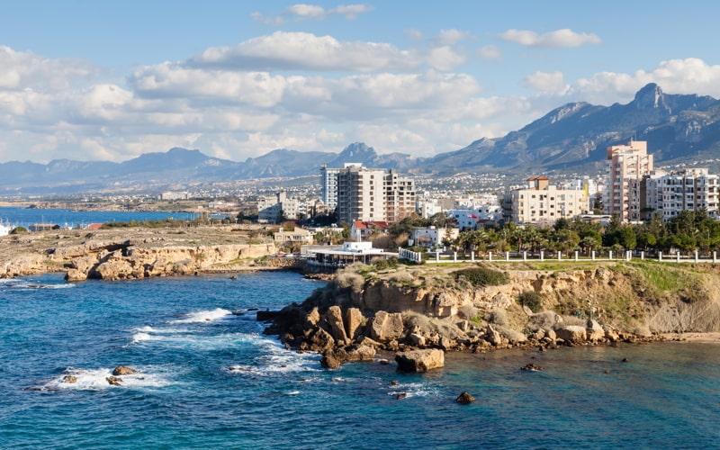 The Kyrenia coastline in the Turkish Republic of Northern Cyprus.