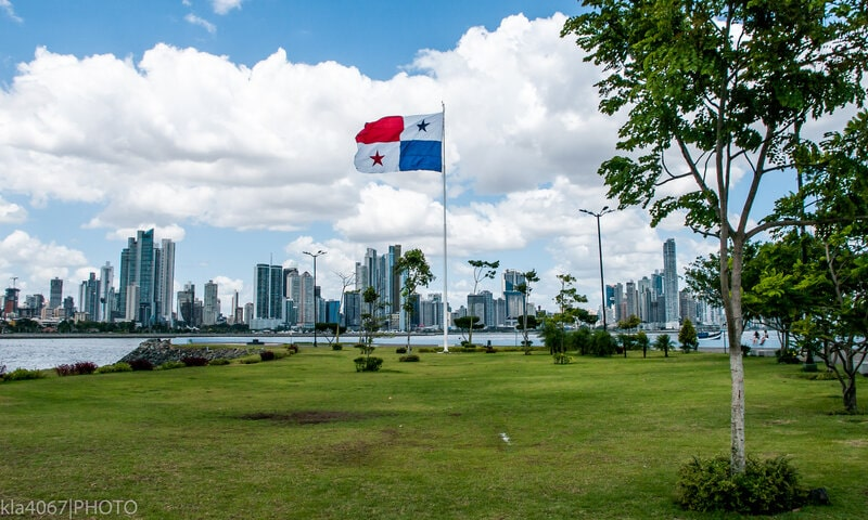Panama City, Panama on a sunny day